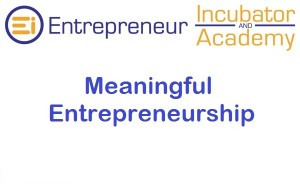 Meaningful Entrepreneurship